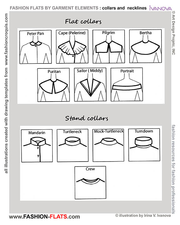 flat and stand collars