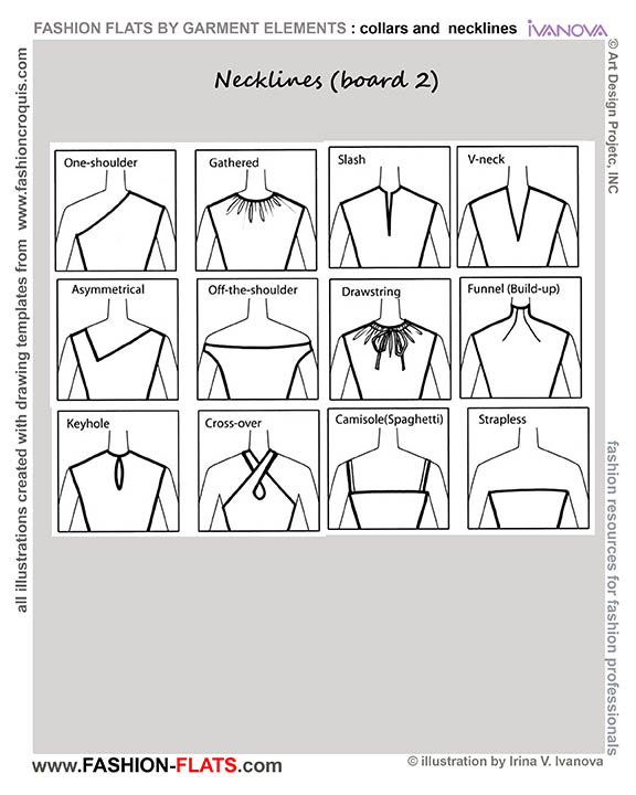 Neckline Drawing : List of synonyms and antonyms the word neck line drawing