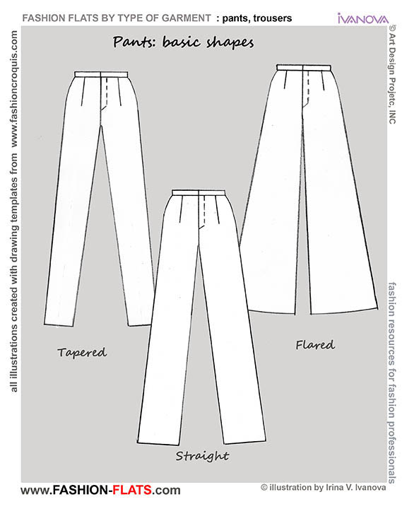 pants and trousers basic shapes
