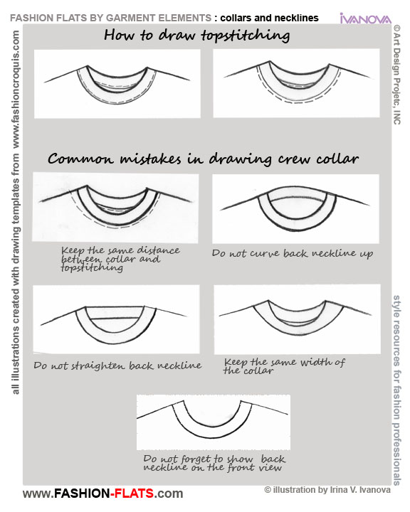 Collar T shirt mistakes